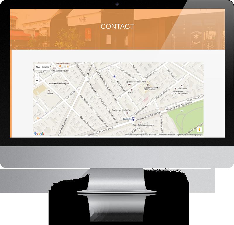 Hôtel Monceau Élysées - page contact