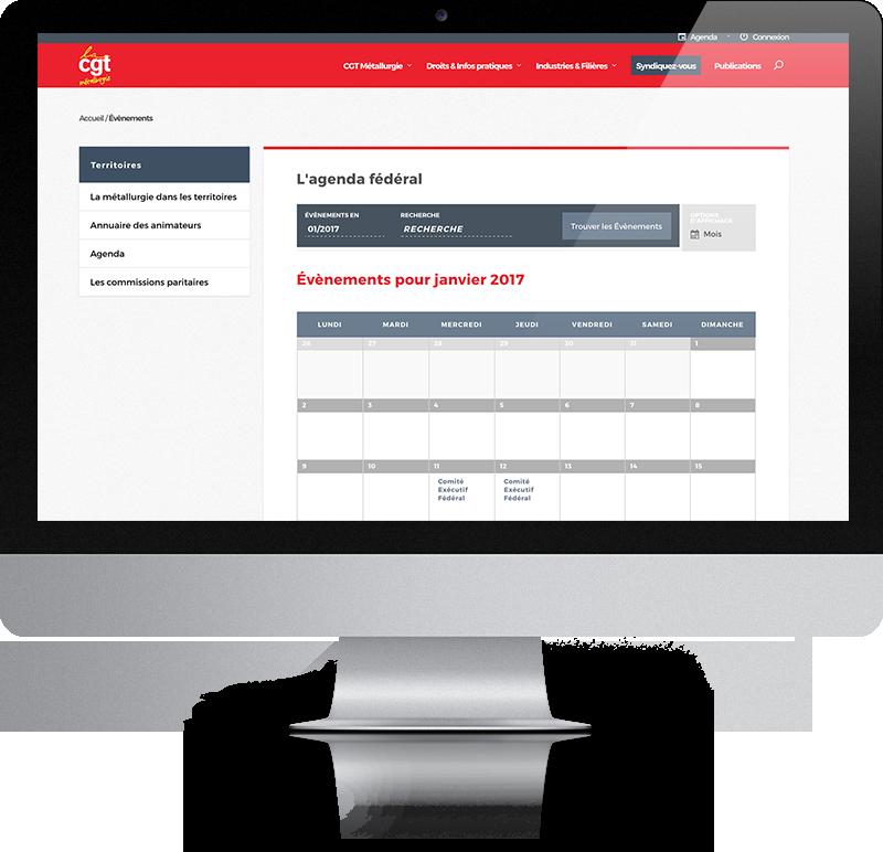 Site internet FTM CGT - CGT Métallurgie